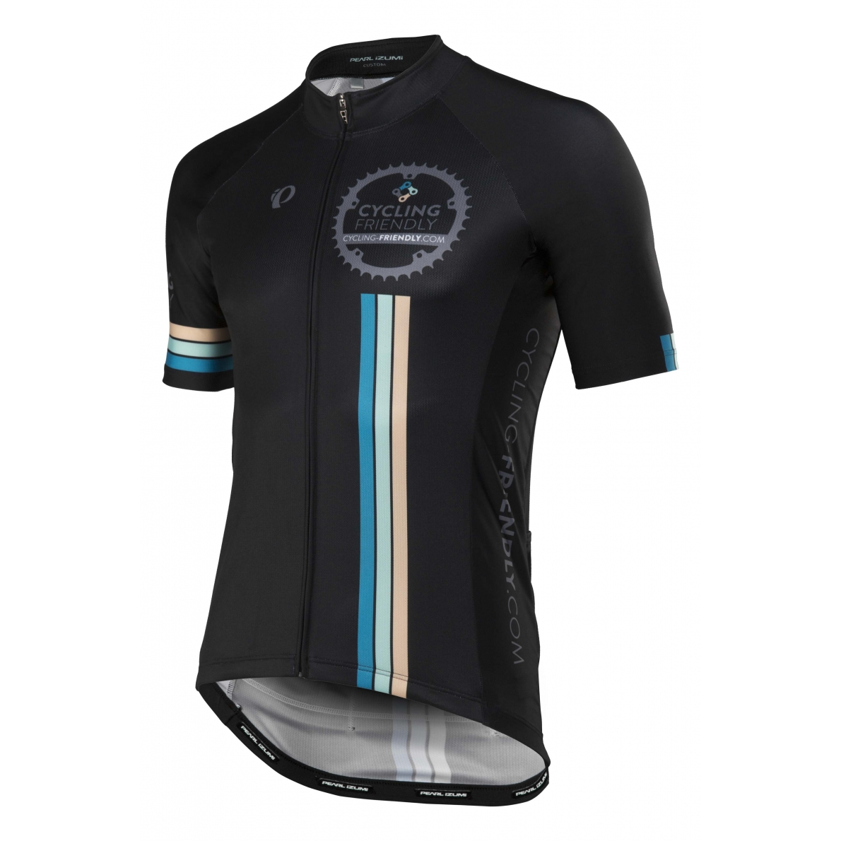 efe51461c Pearl Izumi Mens Cycling Friendly Elite Pursuit Jersey Black Blue L ...